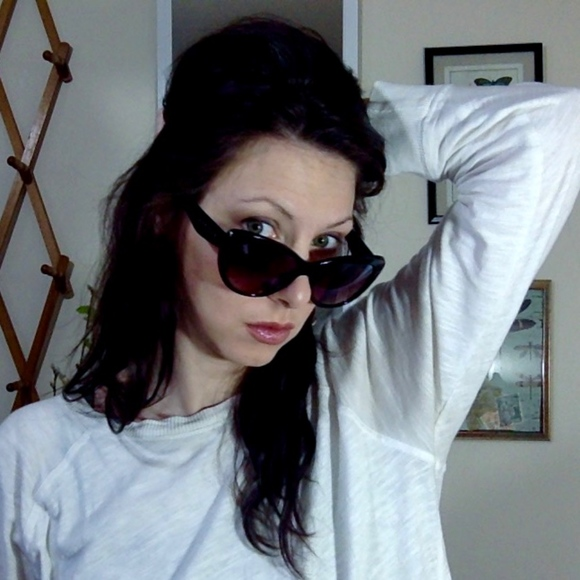 7a1a327324 STEVE MADDEN Brown Oversized Cat Eye Sunglasses. M 5a888e25f9e50120a02d5275